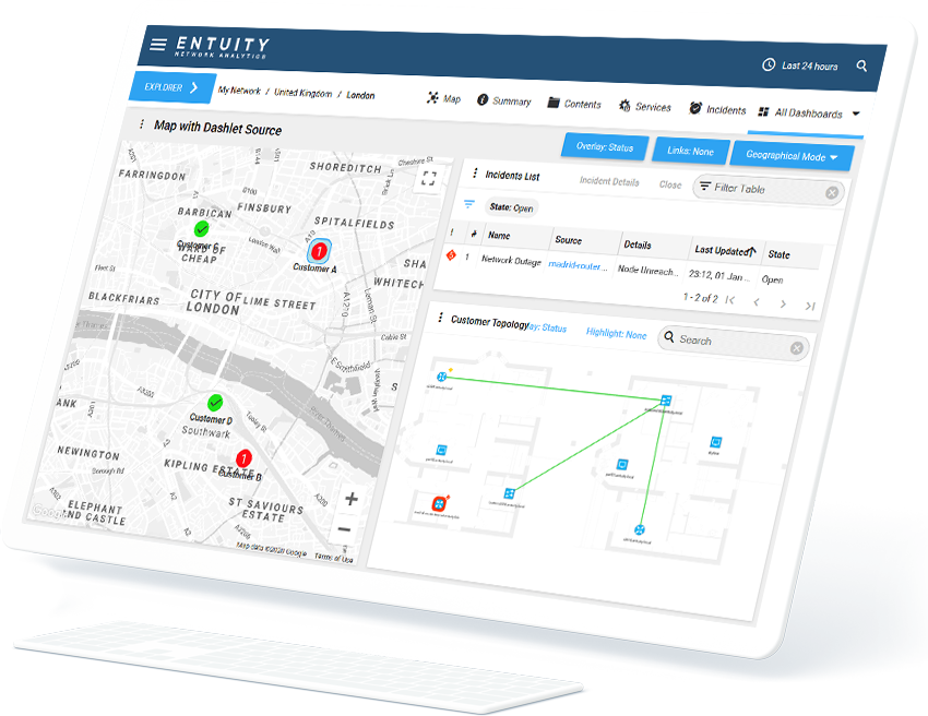 enterprise network mapping software on screen